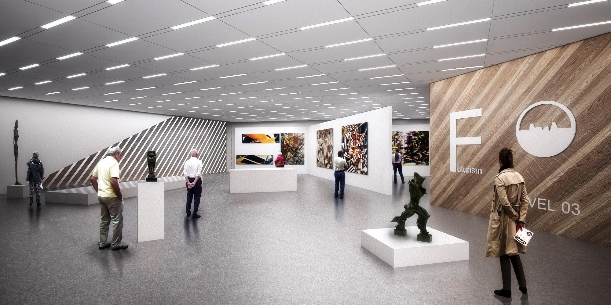 D Rendering Exhibition : Solomon r guggenheim foundation global planning